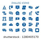 dialog icon set. 30 filled... | Shutterstock .eps vector #1280405170