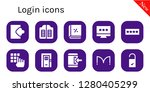login icon set. 10 filled... | Shutterstock .eps vector #1280405299