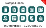 notepad icon set. 10 filled... | Shutterstock .eps vector #1280406370