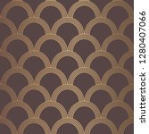 art deco pattern. seamless... | Shutterstock .eps vector #1280407066