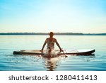 Happy Woman Relaxes On Sup...