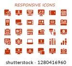 responsive icon set. 30 filled ...   Shutterstock .eps vector #1280416960