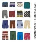 set of male shorts and panties  ...   Shutterstock .eps vector #1280418469