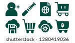 add icon set. 8 filled add... | Shutterstock .eps vector #1280419036