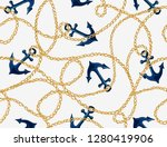 seamless vector floral pattern... | Shutterstock .eps vector #1280419906