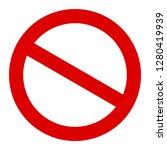 stop sign  stop icon   vector... | Shutterstock .eps vector #1280419939