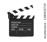 Movie Clapper Isolated On Whit...