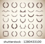 collection of different vintage ...   Shutterstock .eps vector #1280433100