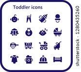 toddler icon set. 16 filled...   Shutterstock .eps vector #1280435260