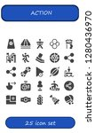 action icon set. 25 filled... | Shutterstock .eps vector #1280436970