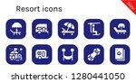 resort icon set. 10 filled... | Shutterstock .eps vector #1280441050