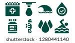 aqua icon set. 8 filled aqua... | Shutterstock .eps vector #1280441140