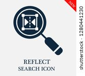 reflect search icon. editable... | Shutterstock .eps vector #1280441230