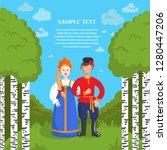 flat style illustration on the... | Shutterstock .eps vector #1280447206
