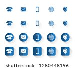 4 style contact information... | Shutterstock .eps vector #1280448196