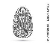 fingerprint vector icons... | Shutterstock .eps vector #1280452483