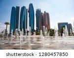 abu dhabi skyline  united arab... | Shutterstock . vector #1280457850