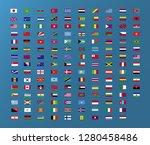 world country flag  set for web ... | Shutterstock .eps vector #1280458486