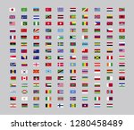 world country flag  set for web ... | Shutterstock .eps vector #1280458489