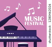 piano classical instrument icon | Shutterstock .eps vector #1280462026