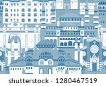 istanbul city colorful vector... | Shutterstock .eps vector #1280467519