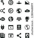 solid black vector icon set  ... | Shutterstock .eps vector #1280468899