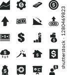 solid black vector icon set  ... | Shutterstock .eps vector #1280469823