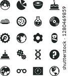 solid black vector icon set  ... | Shutterstock .eps vector #1280469859