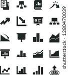 solid black vector icon set  ... | Shutterstock .eps vector #1280470039
