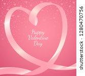 heart shape made from pink... | Shutterstock .eps vector #1280470756