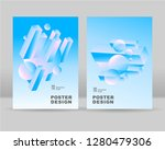 the abstract isometric ... | Shutterstock .eps vector #1280479306
