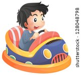 alone,background,boy,bump,bumpcar,bumper,car,carnival,cartoon,child,clip art,clip-art,clipart,colorful,dodge