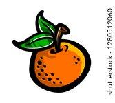 orange fruit vector cartoon   Shutterstock .eps vector #1280512060