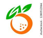 orange fruit vector cartoon   Shutterstock .eps vector #1280512066