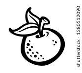 orange fruit vector cartoon   Shutterstock .eps vector #1280512090
