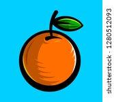 orange fruit vector cartoon   Shutterstock .eps vector #1280512093