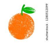 orange fruit vector cartoon   Shutterstock .eps vector #1280512099