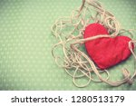 valentines day. red heart... | Shutterstock . vector #1280513179