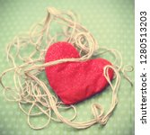 valentines day. red heart... | Shutterstock . vector #1280513203
