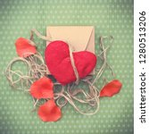 valentines day. red heart... | Shutterstock . vector #1280513206