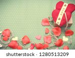 valentines day. red heart... | Shutterstock . vector #1280513209