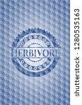 herbivore blue badge with... | Shutterstock .eps vector #1280535163