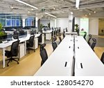 office work place | Shutterstock . vector #128054270