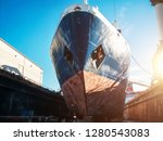 large seismic or cargo ship in...   Shutterstock . vector #1280543083