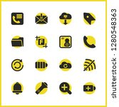 interface icons set with phone...