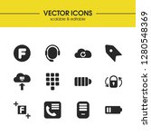 ui icons set with keypad  f...