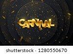 carnival golden sign on black... | Shutterstock .eps vector #1280550670