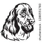 decorative portrait of dog... | Shutterstock .eps vector #1280551783