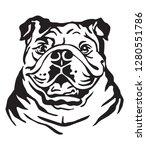 decorative portrait of dog... | Shutterstock .eps vector #1280551786