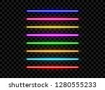 realistic led neon tube light... | Shutterstock .eps vector #1280555233